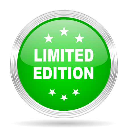 limited edition: limited edition green modern design web glossy icon