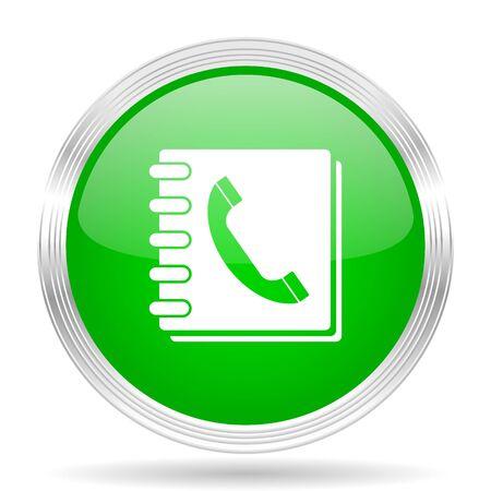 phonebook: phonebook green modern design web glossy icon Stock Photo