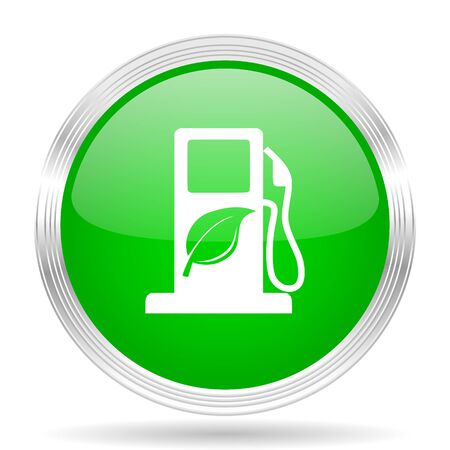 biodiesel: biofuel green modern design web glossy icon