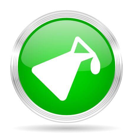 green chemistry: chemistry green modern design web glossy icon