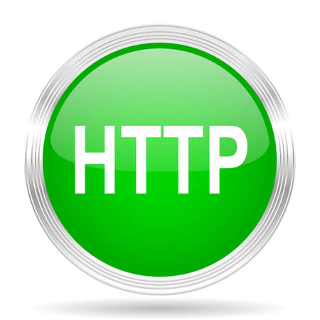 http: http green modern design web glossy icon
