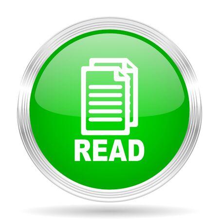 reading app: read green modern design web glossy icon