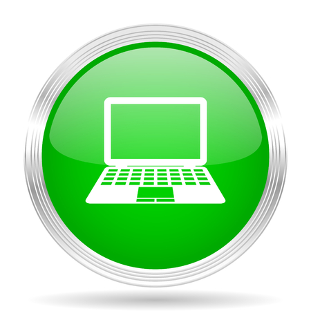 movable: computer green modern design web glossy icon