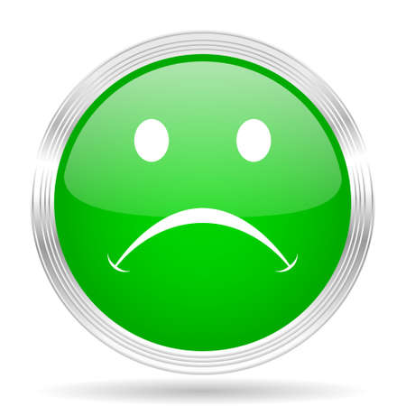negate: cry green modern design web glossy icon