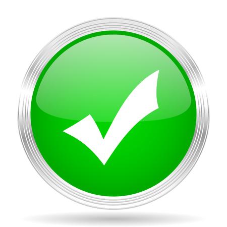 accept icon: accept green modern design web glossy icon