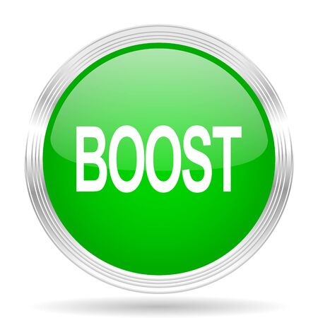 boost: boost green modern design web glossy icon