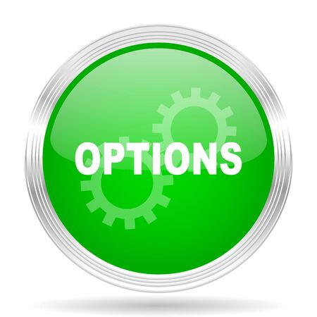 parameters: options green modern design web glossy icon Stock Photo