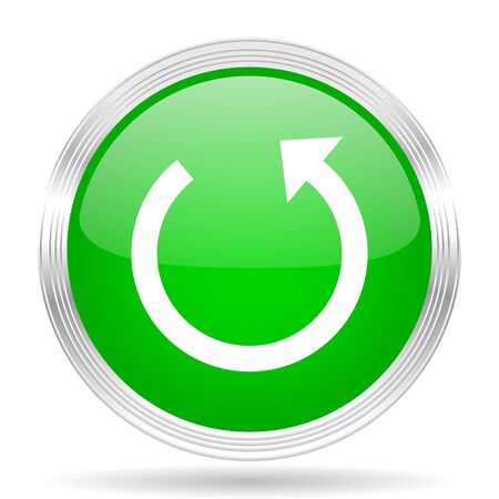 application recycle: rotate green modern design web glossy icon Stock Photo