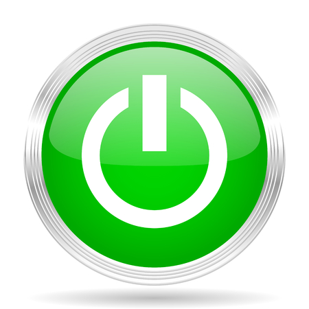green power: power green modern design web glossy icon