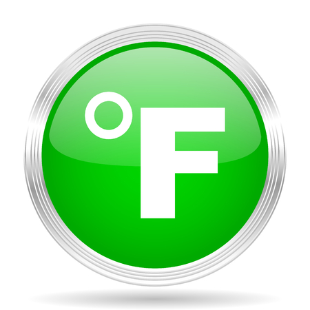 fahrenheit: fahrenheit green modern design web glossy icon