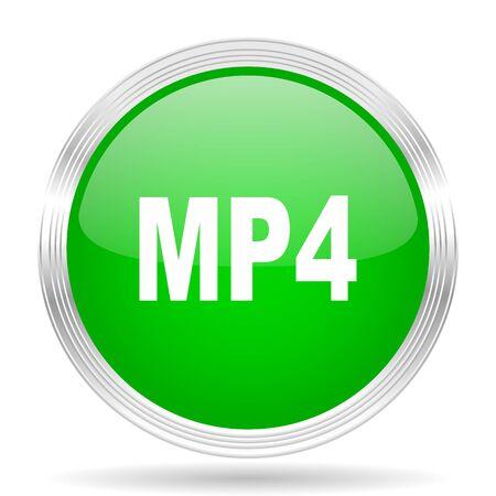 mp4: mp4 green modern design web glossy icon