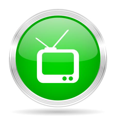 programm: tv green modern design web glossy icon