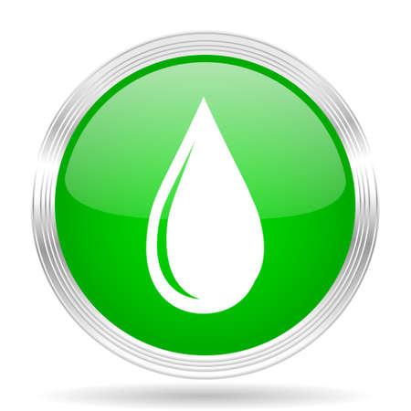 waterdrops: water drop green modern design web glossy icon Stock Photo