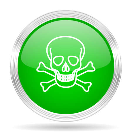 pirating: skull green modern design web glossy icon