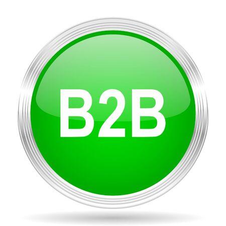 b2b: b2b green modern design web glossy icon
