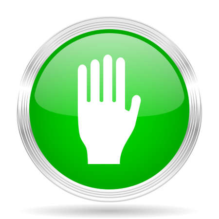 stop icon: stop green modern design web glossy icon