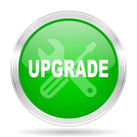 upgrade: upgrade green modern design web glossy icon