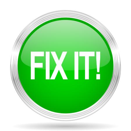 green it: fix it green modern design web glossy icon