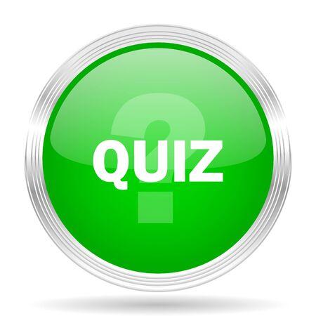 quiz test: quiz green modern design web glossy icon