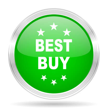 best buy: best buy green modern design web glossy icon Stock Photo