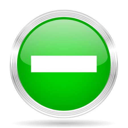 minus: minus green modern design web glossy icon