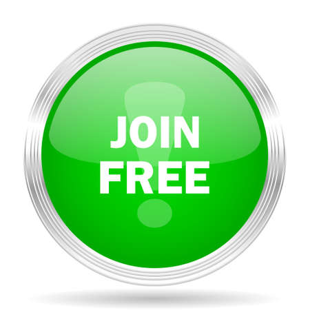 join: join free green modern design web glossy icon