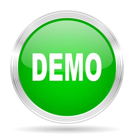 demo: demo green modern design web glossy icon