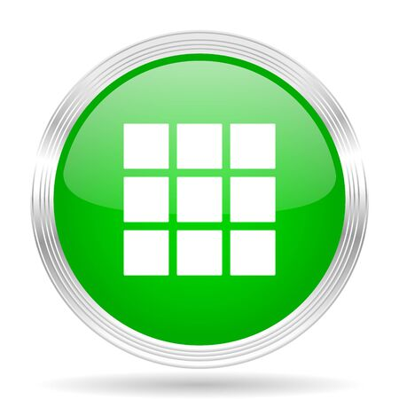 thumbnails: thumbnails grid green modern design web glossy icon Stock Photo