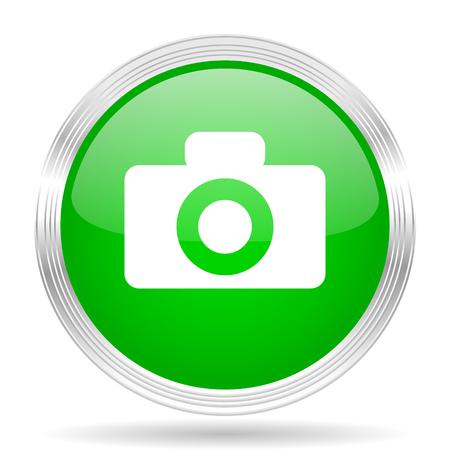 picto: camera green modern design web glossy icon