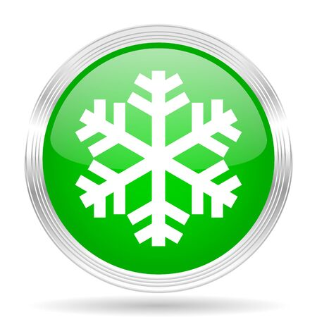 green button: snow green modern design web glossy icon