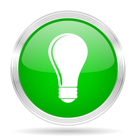lighting button: bulb green modern design web glossy icon