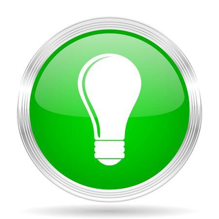 lighting button: bulb green modern design web glossy icon