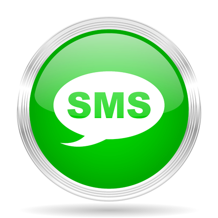 reading app: sms green modern design web glossy icon