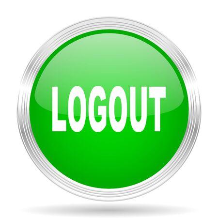 logout: logout green modern design web glossy icon