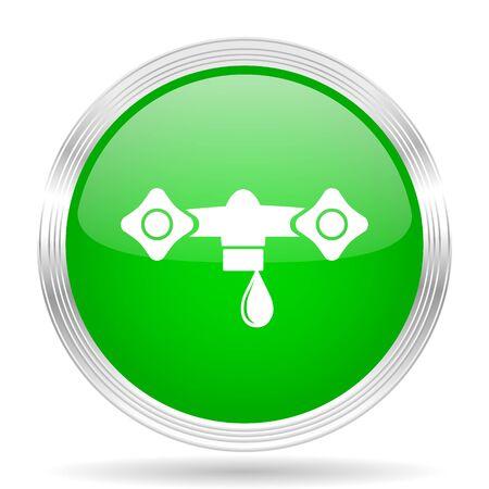 waterdrops: water green modern design web glossy icon Stock Photo
