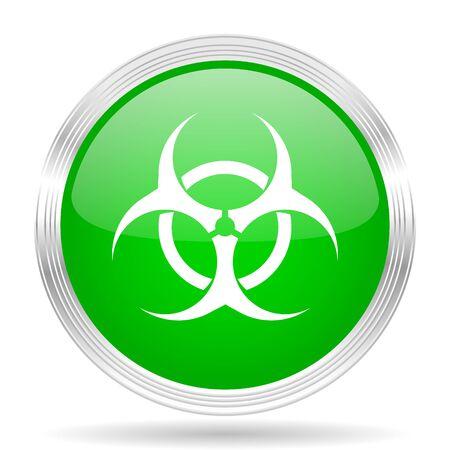 biohazard: biohazard green modern design web glossy icon