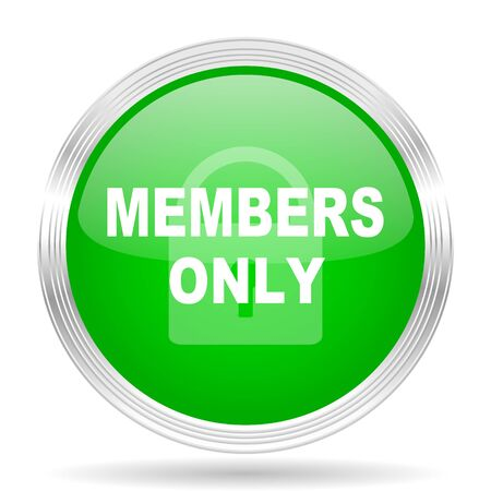 members only: members only green modern design web glossy icon