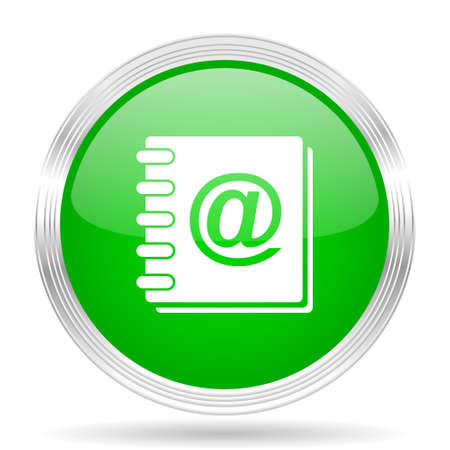 web address: address book green modern design web glossy icon