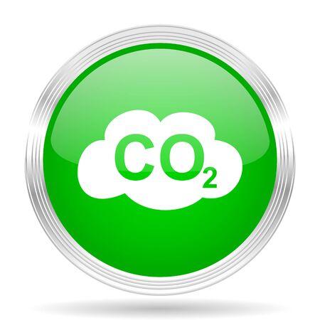 dioxide: carbon dioxide green modern design web glossy icon