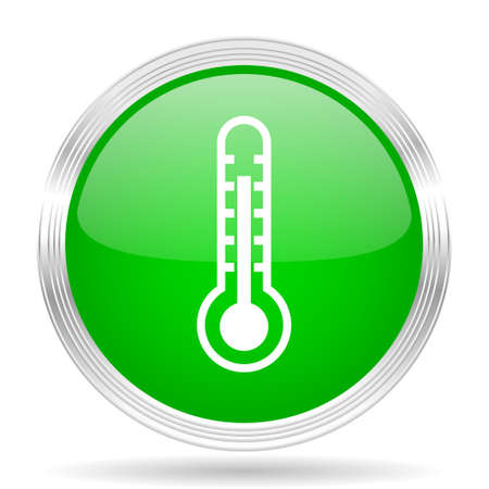green button: thermometer green modern design web glossy icon Stock Photo