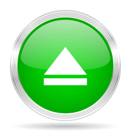eject: eject green modern design web glossy icon Stock Photo