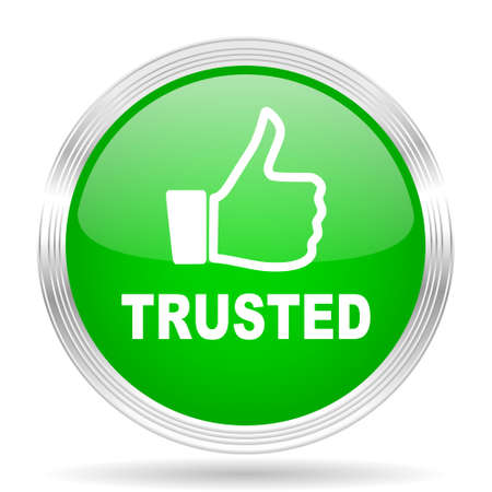 trusted: trusted green modern design web glossy icon