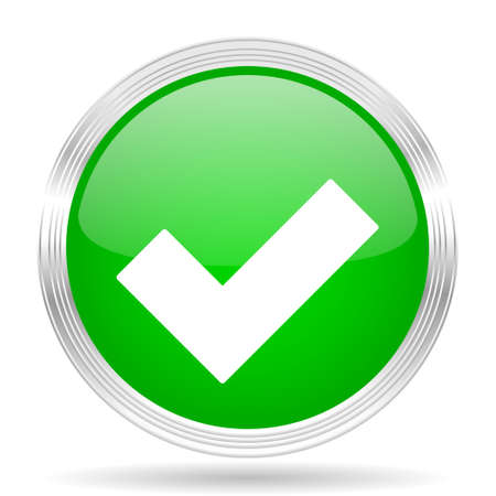 to accept: accept green modern design web glossy icon