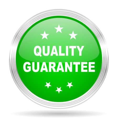 quality guarantee: quality guarantee green modern design web glossy icon Stock Photo