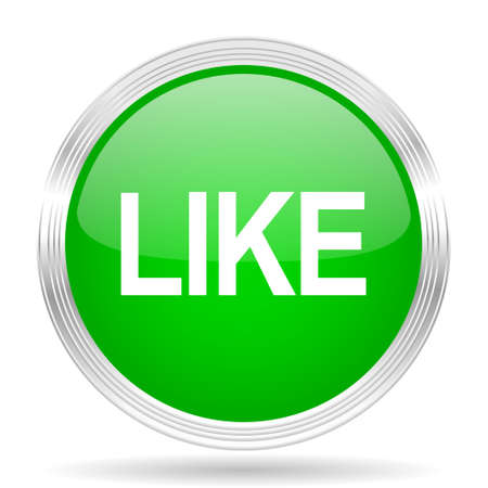 approval button: like green modern design web glossy icon Stock Photo