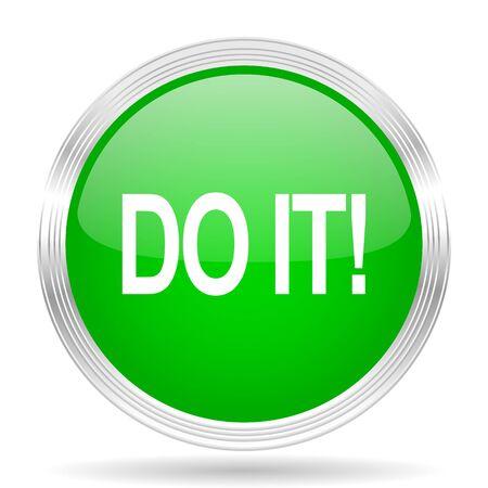 green it: do it green modern design web glossy icon