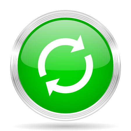 application recycle: reload green modern design web glossy icon