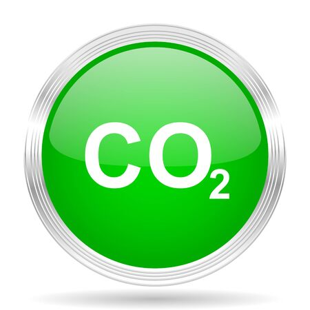 carbon dioxide: carbon dioxide green modern design web glossy icon