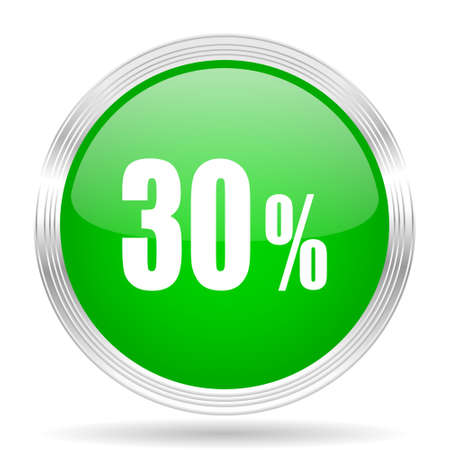 30: 30 percent green modern design web glossy icon