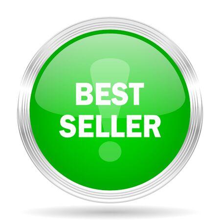 best seller: best seller green modern design web glossy icon